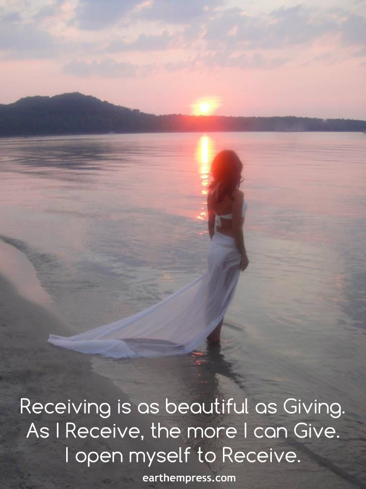 receiving is beautiful as giving